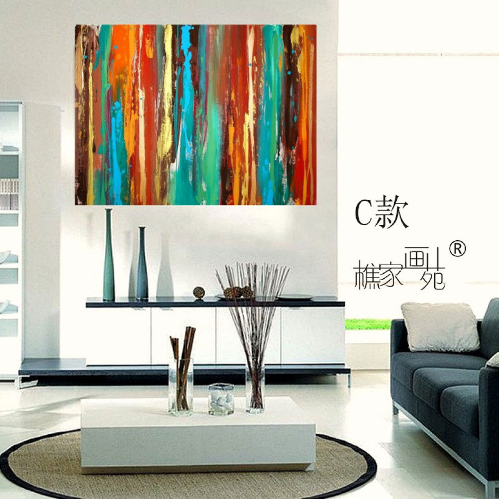 樵家画苑欧式简单抽象油画客厅沙发背景墙装饰挂画玄关过道挂画