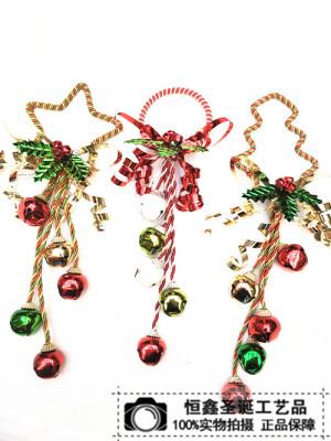 Christmas bells hung on door bell metal iron door knob pendant Pendant