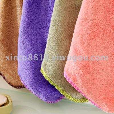 Bunny Cartoon Wipes Towel Hooded Cute Smile Face Coral Velvet Towel Wipes Wipes Dishwasher