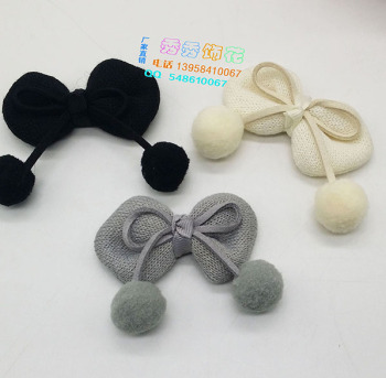 Factory direct sale DIY wool ball knot children's wear gloves, gloves, boots and accessories