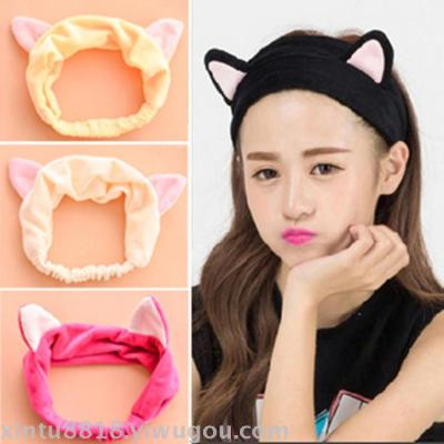 6178 running male Chen He Song Jia with the cat ears hair with hair band hoop scarf Taobao supply manufacturers