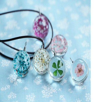 Dried flower pendant necklace sweater chain flowers sold through the wish burst Taobao burst models available