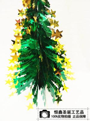 Green Christmas tree Christmas Garland ribbon celebration ceiling roof ornaments shop