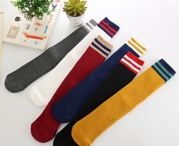 South Korean children socks two bars of Japanese students stockings high socks cotton socks factory wholesale