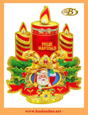 3D christmas  candle sticker BJ-110