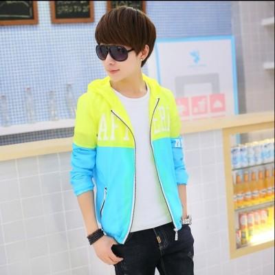 Young men's jacket jacket sun jacket Korean style handsome boy tide fashion slim clothes