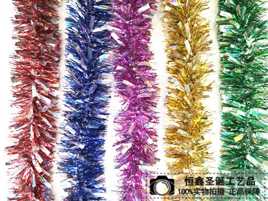 Supply christmas tinsel garland wedding decoration decorative