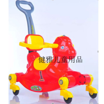 The new children's baby ride on wheels putter rocking horse