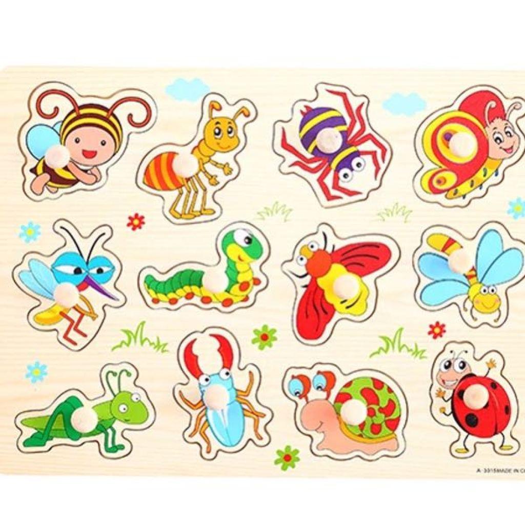 益智早教认知拼图玩具动物水果交通工具