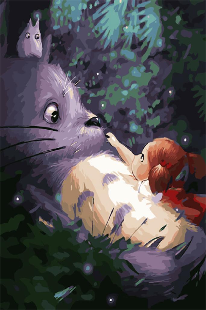 數字油畫客廳風景花卉動漫人物填色手繪裝飾畫