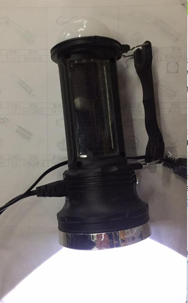 kc-669太阳能充电led手电筒 挂灯 野营灯