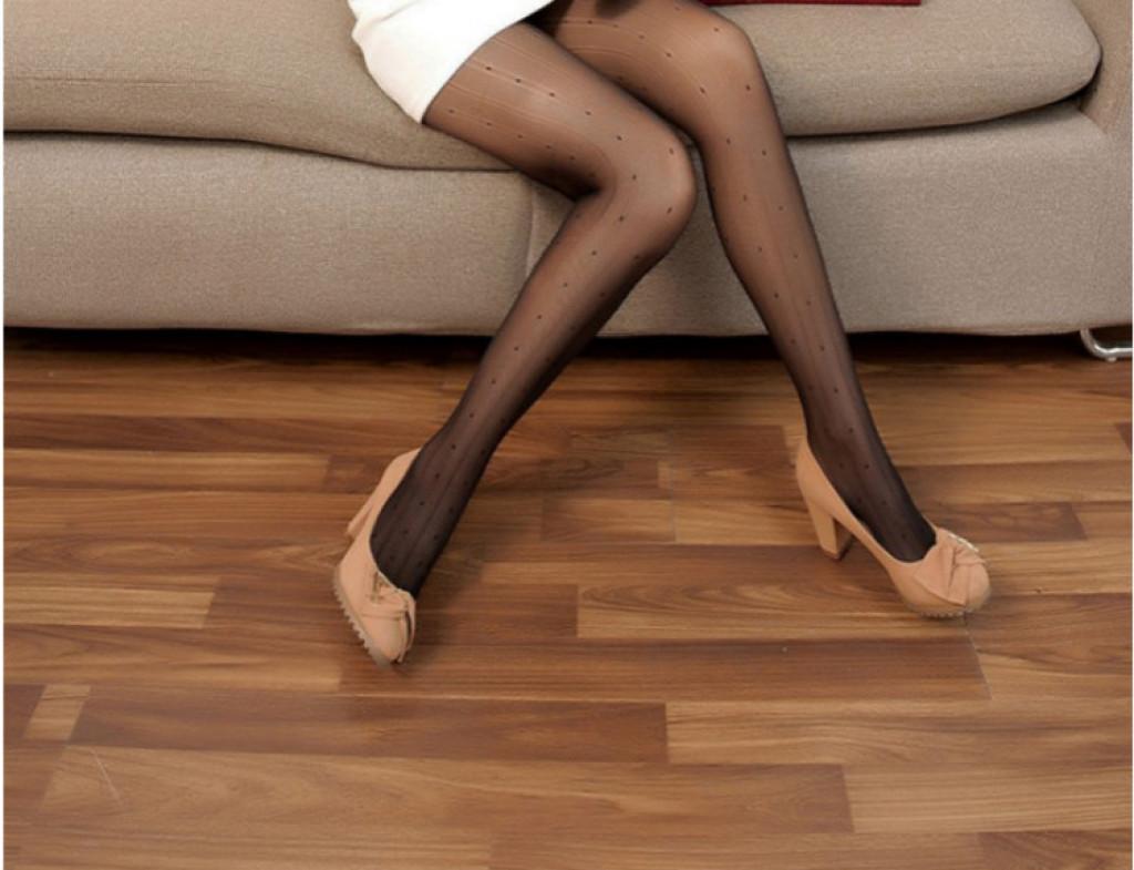 黛娜莎复古包芯丝链条暗纹圆点点丝袜连裤袜