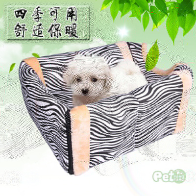 Factory direct sale zebra tattoo can be dismantled all season pet dog kennel dual purpose pet kennel cat kennel house