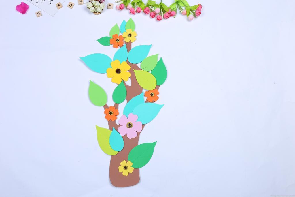 幼儿园装饰材料泡沫贴画黑板报布置道具花树墙贴画儿童房批发