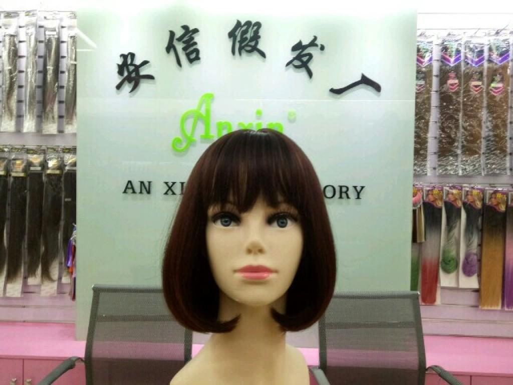时尚假发女短发空气刘海微卷波波头假发