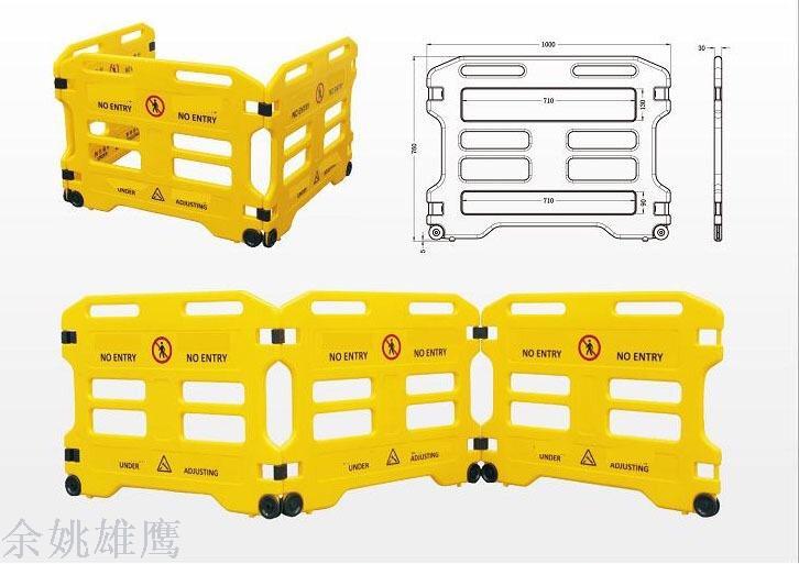 Supply Elevator guardrail/maintenance instruction guardrail