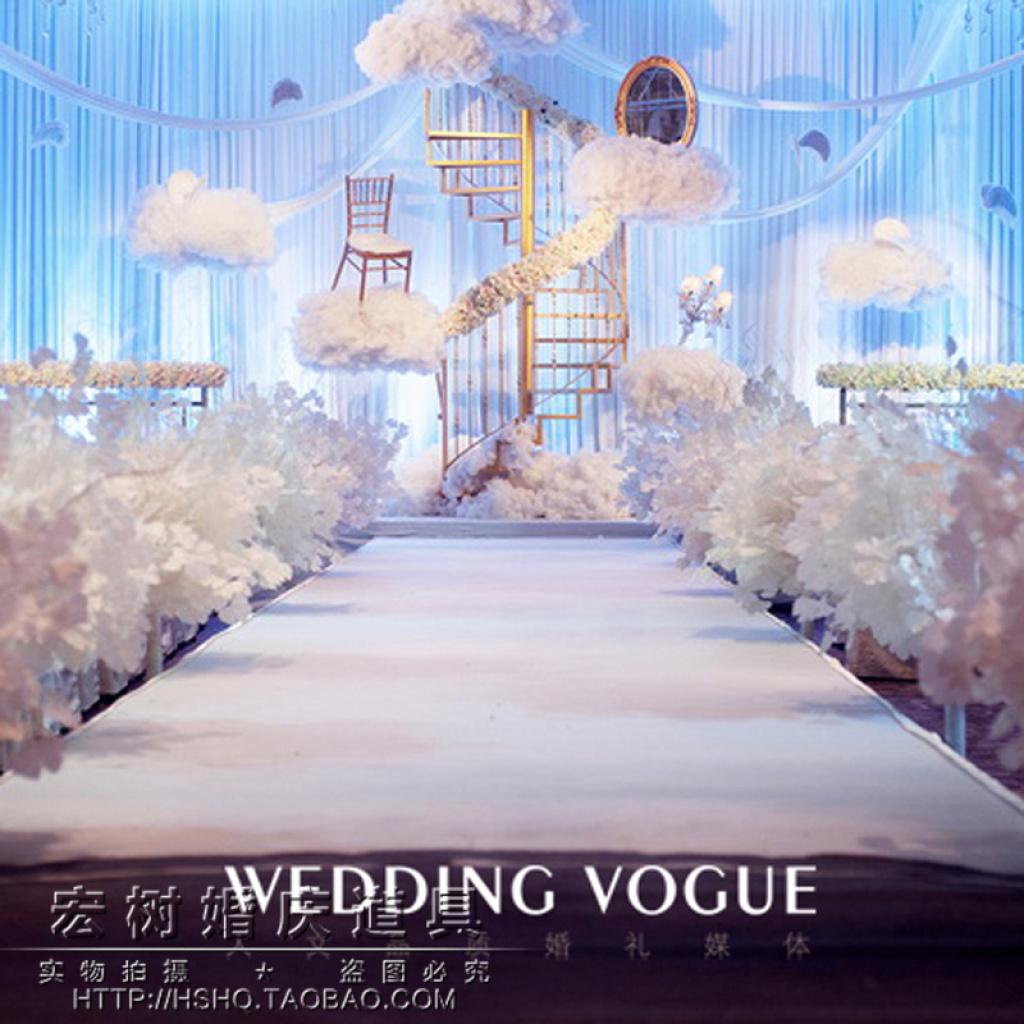 宏树新款婚庆道具铁艺旋转楼梯婚礼云婚庆场景布置拍摄道具