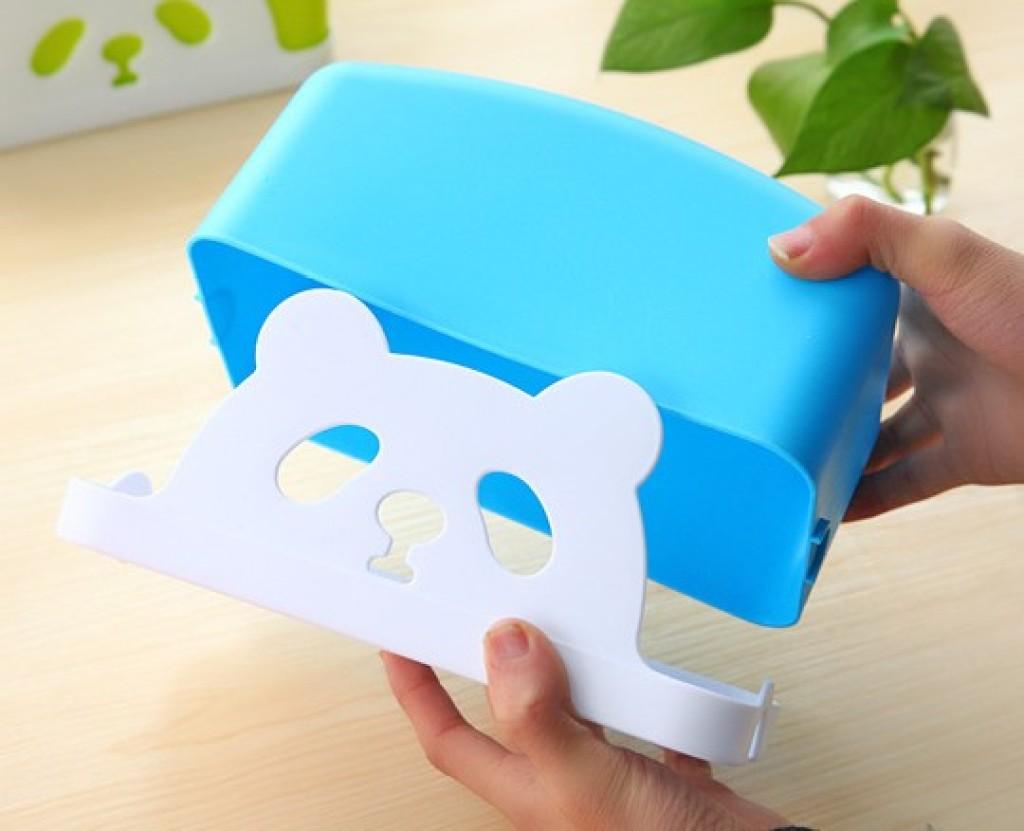 可爱动物卡通熊猫塑料纸巾盒 创意个性时尚汽车抽纸盒赠品 礼品