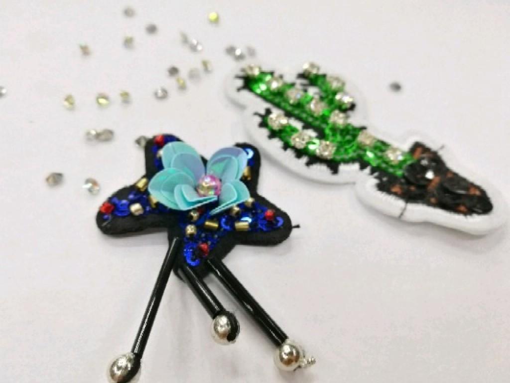 仙人掌手工钉珠,彩虹手工串珠,宇宙手工钉珠,五角星