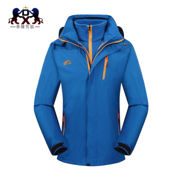 Men's jacket men and women in autumn and winter waterproof three and one or two pieces of cashmere clothing