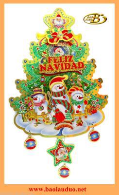 The latest three-dimensional Christmas tree sticker BLD24
