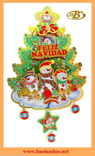 The latest three-dimensional Christmas tree sticker BLD24