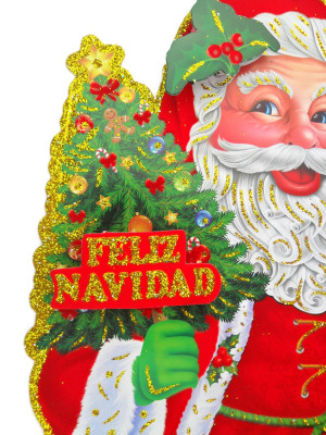 Factory direct sale of the new Santa Claus glass window BJ721