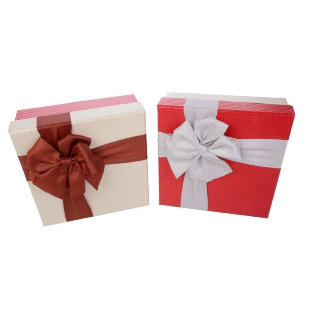 新款正方形蝴蝶结礼品盒五件套