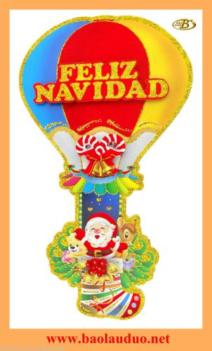 Factory direct sales of new Christmas balloon stickers large glass window stickers BJ615
