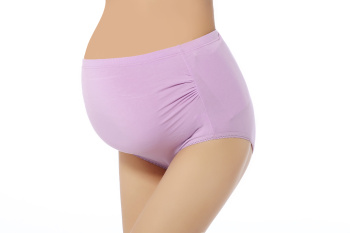 Traceable modal cotton on both sides of the wrinkle big yards high waist adjustable large size pregnant women underwear