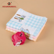 Playful prints decorate children's towels with a variety of colors