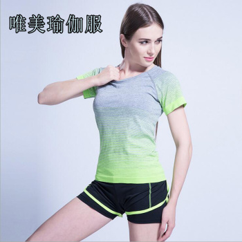 Women's Gym  Sport T-shirt Dry Quick Yoga Running Short Sleeve T-shirts Fitness Women Clothes Tee tops