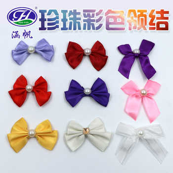 Double layer diamond jewelry jewelry bag wrapped with polyester bow tie dress shirt bow tie