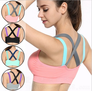Sports bra, female running, fitness, shockproof, sports underwear, moisture absorption, perspiration, fast drying