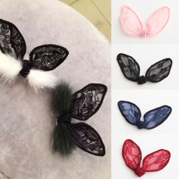 Lace rabbit ears DIY bow headdress flower hair accessories accessories
