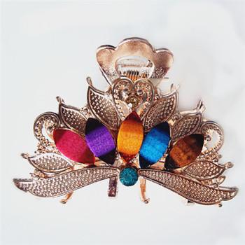Environmental protection alloy diamond jewelry hairpin hairpin hair headdress medium grip wholesale