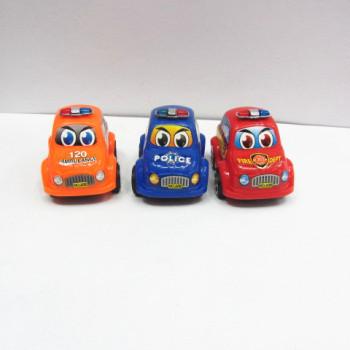 Children's educational toys wholesale inertia sliding series antenna small police car 3