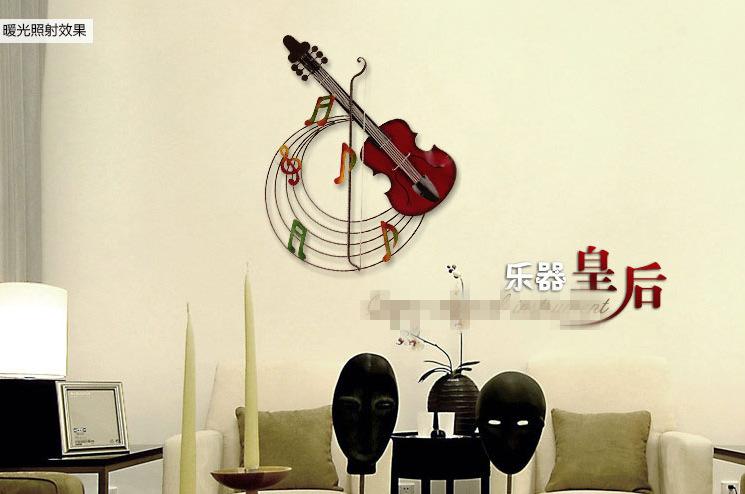 铁艺家居饰品 创意壁挂墙饰小提琴 复古酒吧咖啡厅音乐壁饰