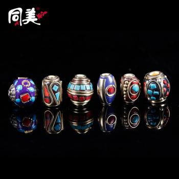 Nepal handmade beads retro Tibetan hand Vajra Bodhi string DIY beads jewelry accessories