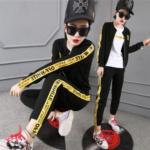 Di Baoli new casual women's sportswear three sets of Korean version of the mother jacket