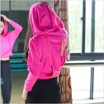 Korean version of the new yoga fitness wear breathable jacket dry running cover women's sportswear hoody