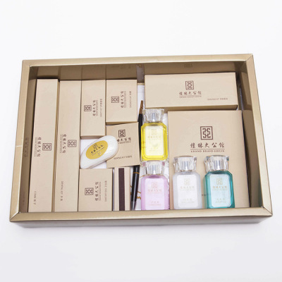 Factory direct Gucci processing customized disposable hotel supplies set travel set