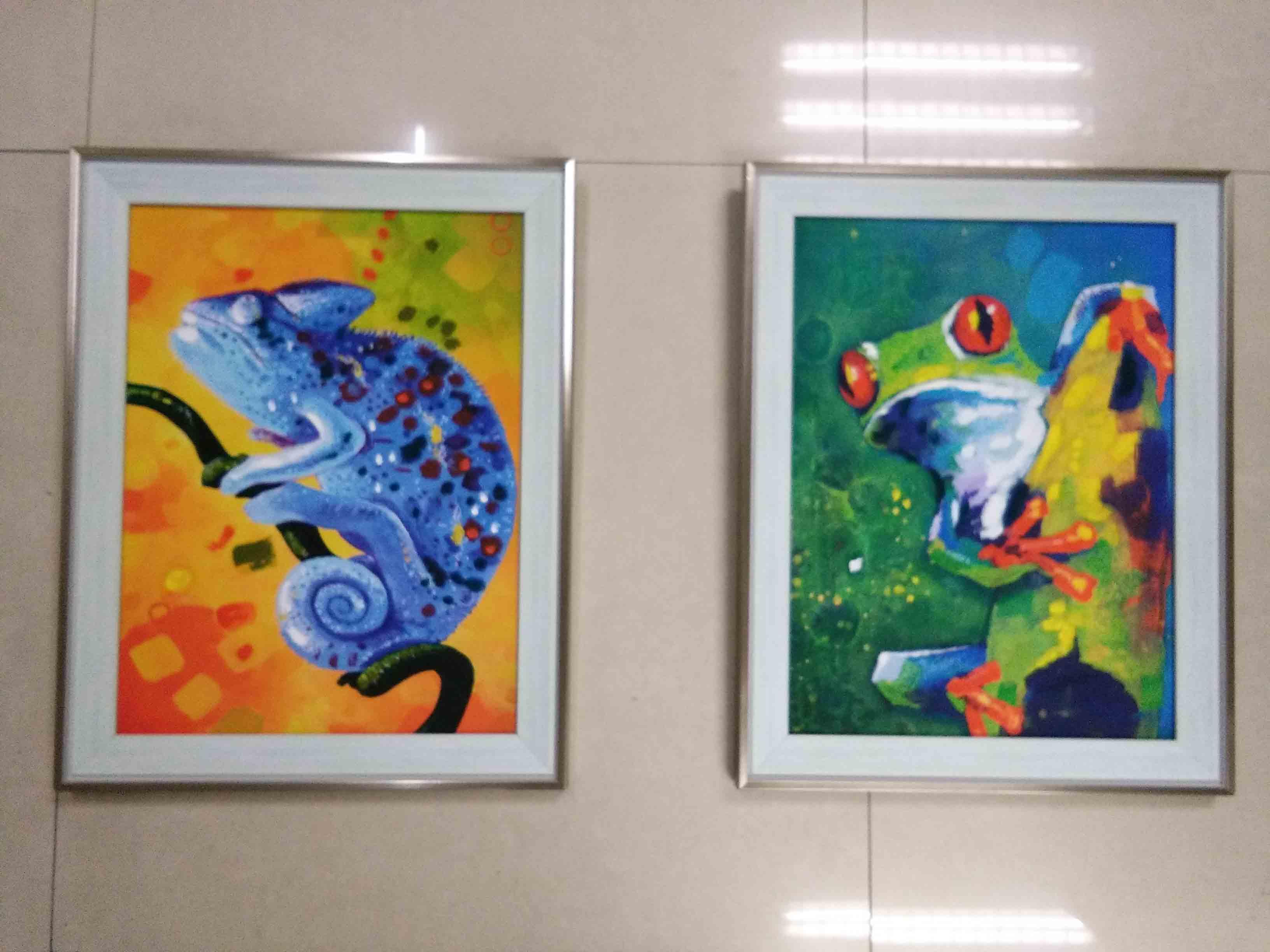 北欧装饰画客厅二联画欧式挂画现代背景沙发油画