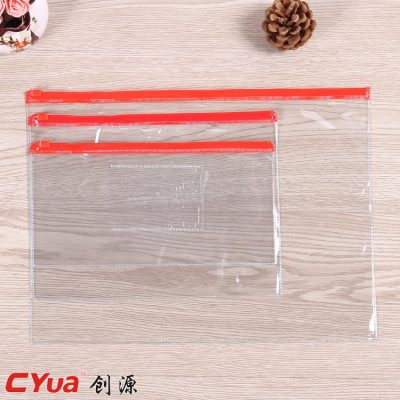 A5 edge bag transparent file folder.