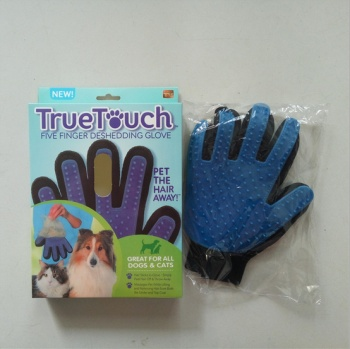 Pet gloves pet bath special gloves TV new cleaning massage gloves TV TV shopping