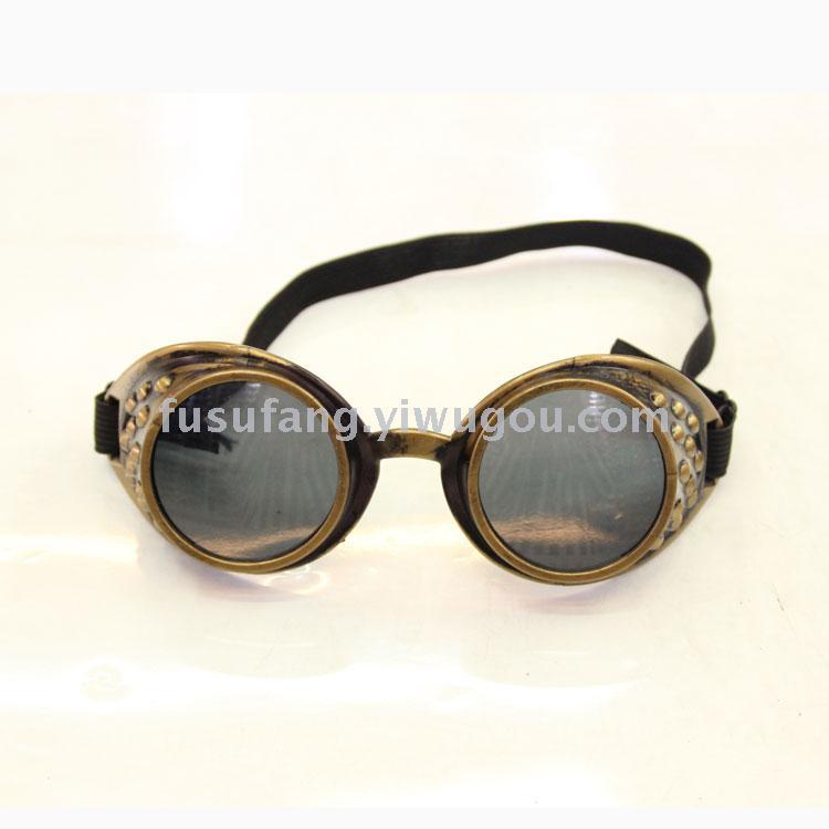 蒸汽朋克护目镜 哥特复古眼镜 骑行,头盔,帽子眼镜888