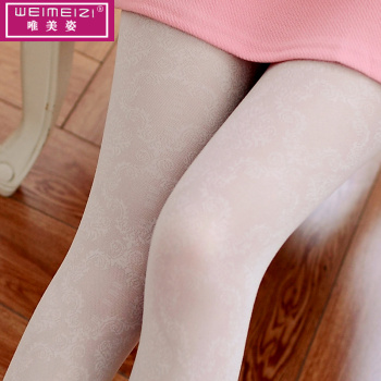 The 2017 summer new female flower lace jacquard mesh no hook silk panty sexy stockings Leggings