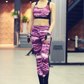 Fitness Women's Tracksuit Running Set Gym Sports Set Workout Gym Bra Pants Sportswear Yoga Set  Femme Sports Clothing
