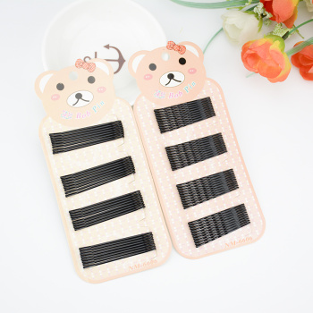Bear card black a round head clip.