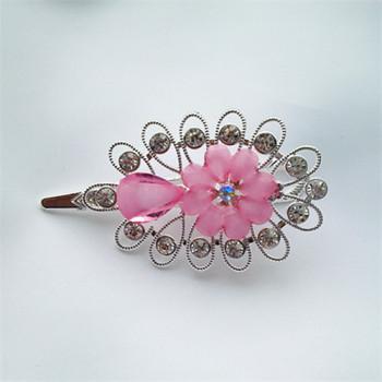 New jewelry hair accessories hairpin gold flower disc Rhinestone Tiara duckbill clip